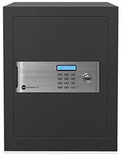 Yale Safe YSM/520/EG1 Hochsicherheitstresor mit Elektronischem Schloss und Schlüsseln, Anthrazit,, grau, YSM/400/EG1