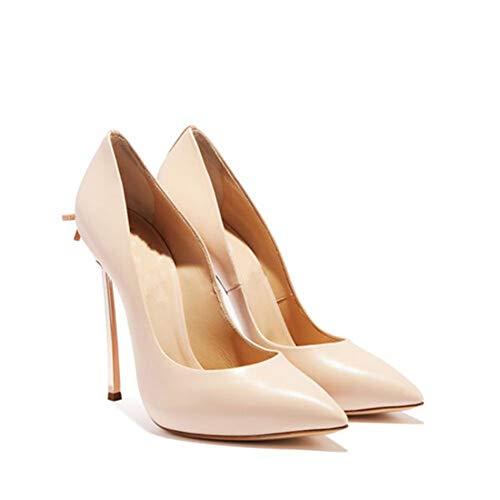 Zapatos De Tacón para Mujer,12Cm Elegante Sexy Punta Puntiaguda Tacón De Aguja...