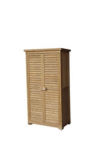 Gardiun KNH1105 - Caseta Armario Emmy 87x46,5x160 cm Madera para Exterior