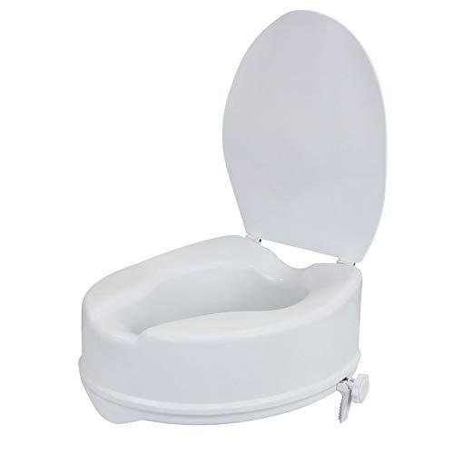 flexilife Toilettensitzerhöhung mit Deckel (15 cm) - WC Sitzerhöhung Toilettenaufsatz für Senioren Toilettenerhöhung