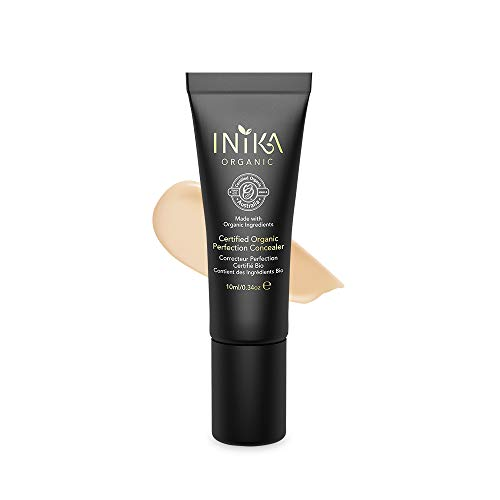 INIKA Certified Organic Perfection Concealer, All Natural Flawless Make-Up Base, Lightweight...