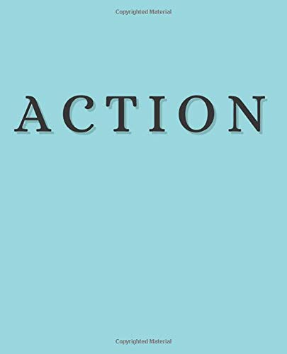 Action: An Exquisite Decorative Book to Stack on Coffee Tables & Bookshelves – Perfect For Interior Design Decor & Home Staging (Powerful Inspirational Words in Turquoise)