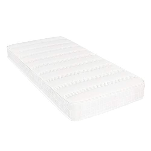 Costoffs Extra Comfort Single Mattress 3ft Medium Soft Coil Spring/Sprung Mattress,Breathable Knitted Top,7-Zone Support,7.5 inch