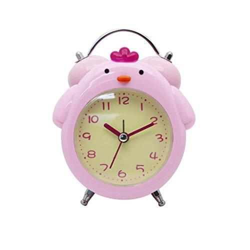 JJZST Reloj Despertador - Niños Despertador for Chicos, Chicas, Regalos for niños for Sleep Trainer Nursery luz de la Noche del Tacto de Alarma Reloj, luz de Noche for niños (Color : Pink)