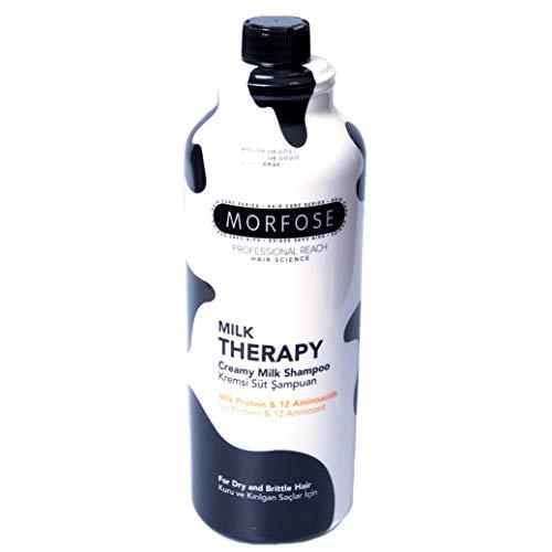 Morfose Milk Therapy Shampoo 1000ml Trockenes Strapaziertes Haar Haarpflege