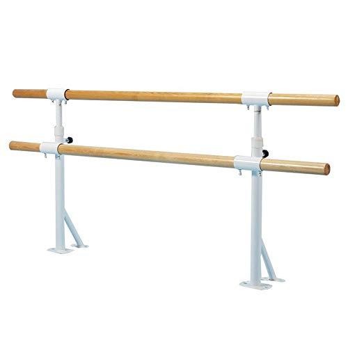 Ballet Barre Bar Ballet Barre Double Ballet Bar for Kids Wall Mounted Adjustable Hight 80-120cm Stretch Barre Dancing Stretching Ballet for Home Stretch Dance Fitness Bar (Size : 1M)