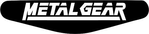 Decus-Shop Play Station PS4 Lightbar Sticker Aufkleber Metal Gear Solid (schwarz)