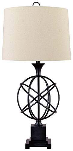 Signature Design by Ashley – Camren Metal Table Lamp – Sculptural Base – Black