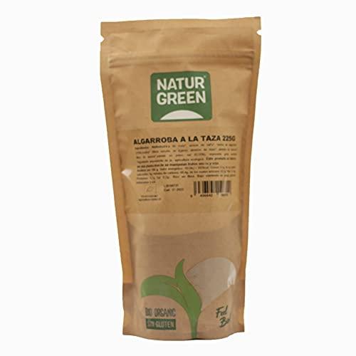 NaturGreen - Harina de Algarroba, Algarroba en Polvo Ecológica, Sustitutivo del Cacao, Alimento Natural, 100% Vegano - 225 g
