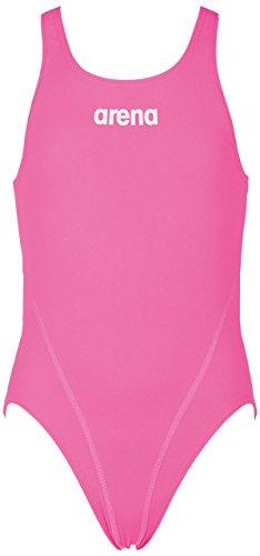 ARENA G Solid Swim Tech JR Disfraz, Paparazzi/White, 10-11 para Nias