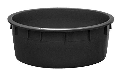 Mobil Plastic - Mastello industriale tondo in plastica 110 litri - nero