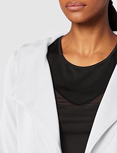 Marca Amazon - AURIQUE Sudadera Cruzada con Capucha Mujer, Blanco (White), 42, Label:L