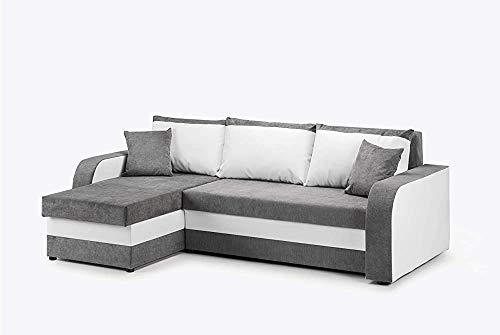 Moderno divano ad angolo letto con contenitori divano letto a due angolari,White grey