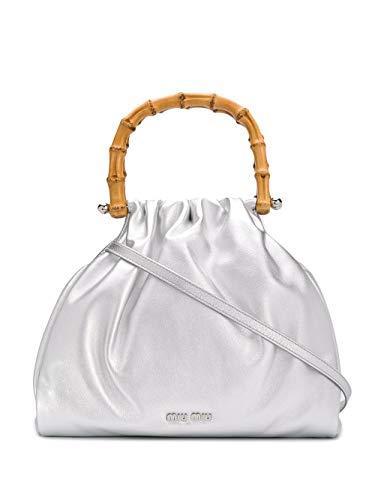 Miu Miu Luxury Fashion Damen 5BA177VBOO2C9MF0118 Silber Leder Handtaschen | Frühling Sommer 20