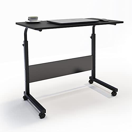 SogesHome Mesa para portátil Mesa Auxiliar Mesa para PC Mesa de Centro para portátil Soporte para portátil con Ruedas