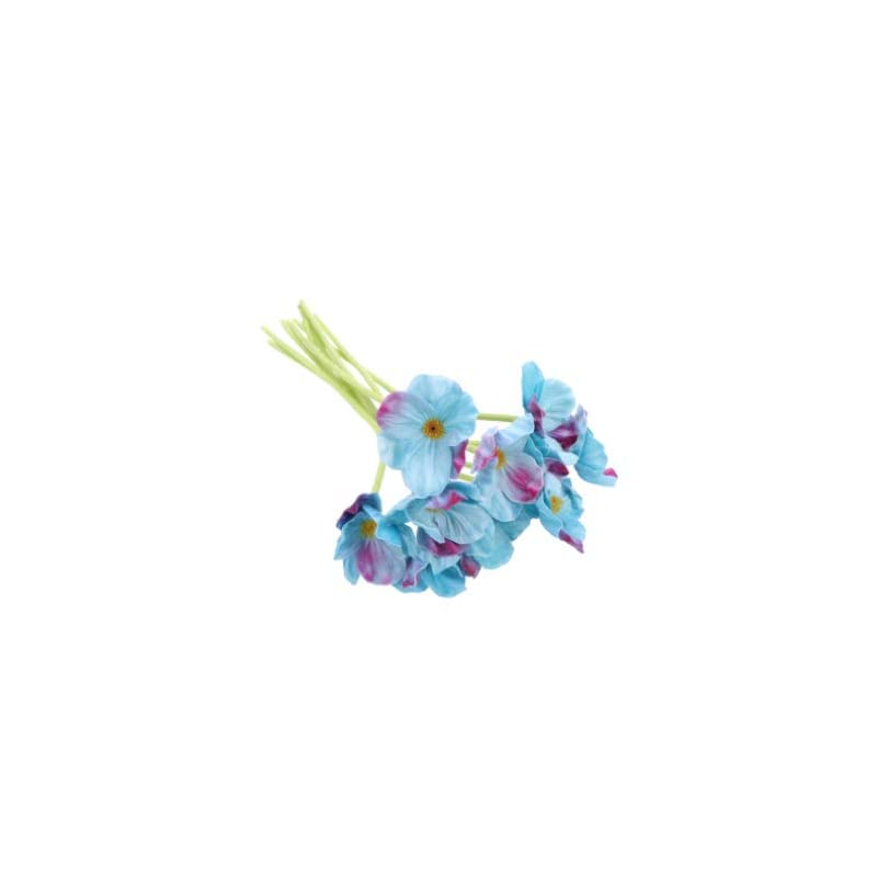 silk flower arrangements besportble artificial poppy flowers silk flower blossom fake faux flower stem picks branch spray holiday table centerpiece vase filler for wedding party evening bouquet decor 10pcs