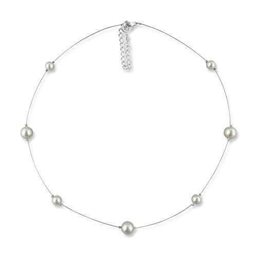 Rivelle Damen Halskette creme Perlenkette Perlen Collier Halsschmuck Geschenk-Box Modeschmuck