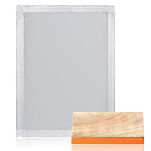 PP OPOUNT 2 Pieces 10 x 14 Inch Wood Silk Screen Printing Frames with 110 White Mesh for Screen Printing