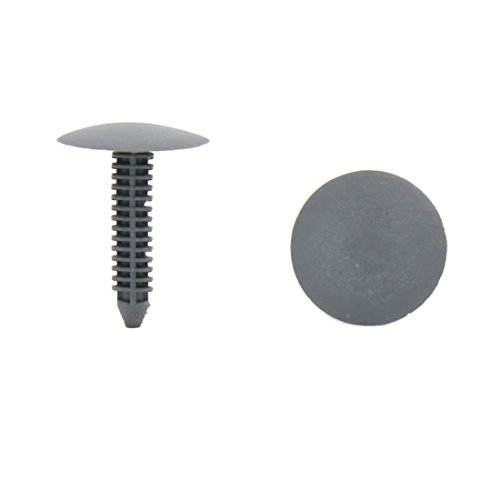 uxcell 50Pcs 7mm Hole Gray Plastic Push in Rivet Interior Trim Panel Car Door Clips