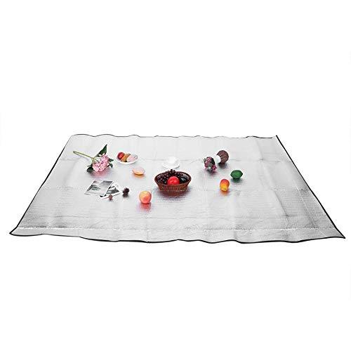 Mumusuki Aluminium Schaumstoffmatte Schlafmatte wasserdichte Folie Campingmatte Faltbare Feuchtigkeitsbeständige Isomatte Isolierdecke Faltbares Zelt Bodenmatte für Picknick im Freien