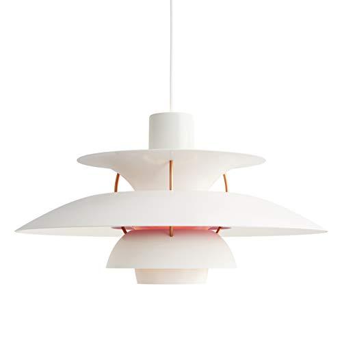 PH 5 Hängeleuchte, Louis Poulsen, Pendelleuchte Entworfen von Poul Henningsen (Weiß Modern)