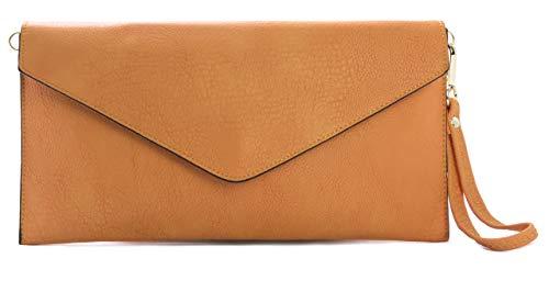 Big Handbag Shop pochette in eco pelle con tracolla lunga