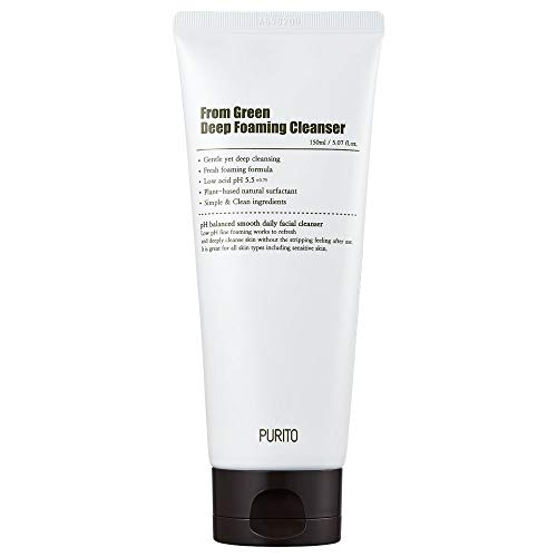 PURITO From Green Deep Foaming Cleanser 150ml With plant-based natural surfactants, ph 5.5 (K-Beauty)