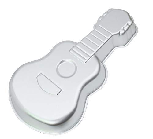 WDYJMALL 40,6 cm Gitarre Form Aluminium 3D Kuchenform Backform Backform Backform - Gitarre