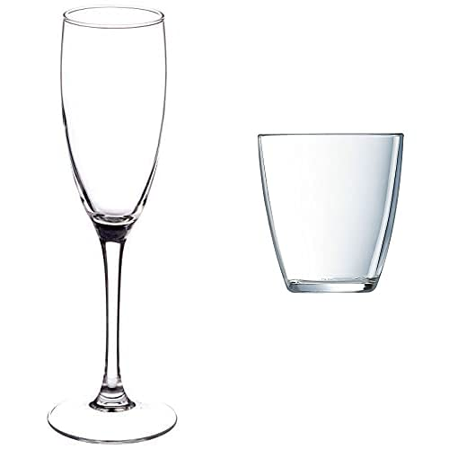 Luminarc Copa De Flauta Para Vinos Espumosos, 6 Copas, 17 Cl + Vasos, Set De 6