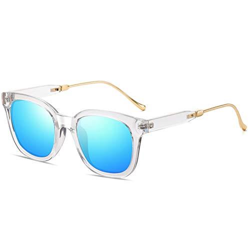 Gafas De Sol Gafas De Sol Polarizadas De Sol De Sol Gafas De Sol Coloridas para Hombres Y Mujeres Zhenzhiyangshangmao (Size : Transparent Box Ice Blue Film)