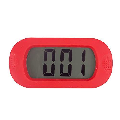 GYCZC Elektronischer Wecker Stumm Nachttisch Leuchtend Intelligent Uhr Kreativ Silikon Uhr Kinderzimmer Tisch Rot