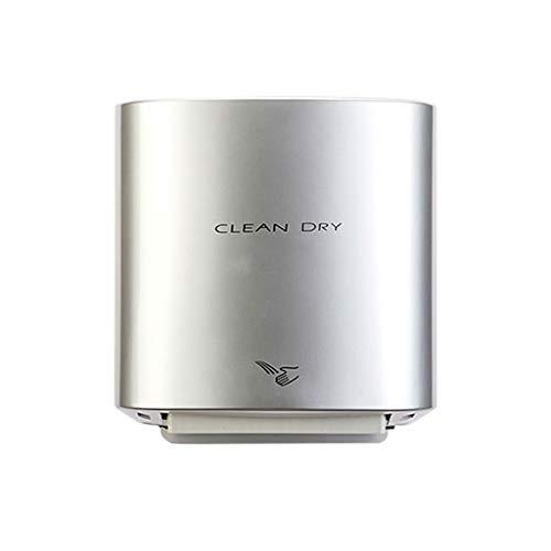 XIN Toiletten Automatischer Handtrockner Hochgeschwindigkeits-Heißwind-Lufttrockner 1100w Elektrischer intelligenter Selbstinduktions-Handtrockner (Color : Silver)