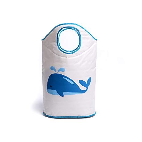 Miracle Baby Cesta de Tela Ropa Sucia,Cesta de Tela Impermeable Plegable.Cestos de lavanderíapara la Colada,Organizador Lavadero para Organizadoras Juguetes Ropa,ballena.42 cm * 70 cm