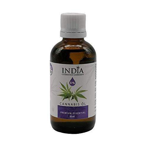 INDIA C. G. Essential Cannabis Öl. Hochwertiges rein natürliches Naturprodukt Premiumqualität (50ml). Gesetzeskonform in Deutschland und in der EU.