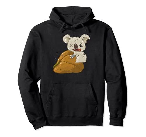 Humor Oscuro Disfraz de Calabaza Koala para Halloween Sudadera con Capucha