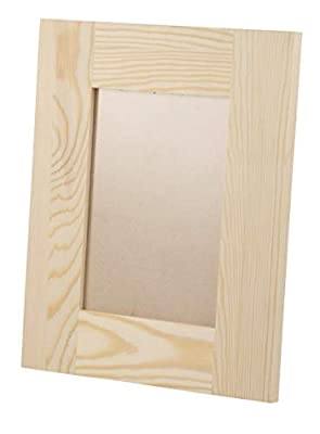Juvale Unfinished Wood Picture Frames, Holds 5 x 7 Inch Photos (8.7 x 10.7 x 0.5 in, 2-Pack)