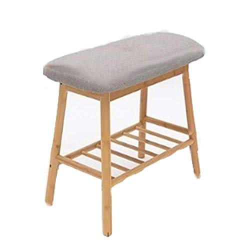 Reposapiés para zapatos, banco, sofá, taburete de madera maciza, se puede almacenar en el marco del hogar, banco de zapatos para ahorrar espacio