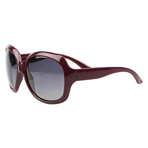B BIDEN BLDEN Mujer Grande Gafas De Sol moda polarizadas gafas UV400 Protección Para Conducción GL3113-DARKRED
