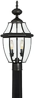 Portfolio Brayden 21.8-in H Mystic Black Post Light
