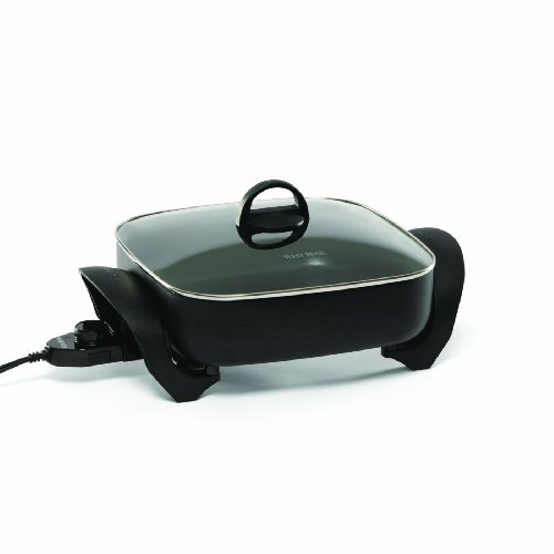 West Bend 72212 Electric Extra-Deep Square 12-Inch Nonstick Skillet, Black (Discontinued by Manufacturer)