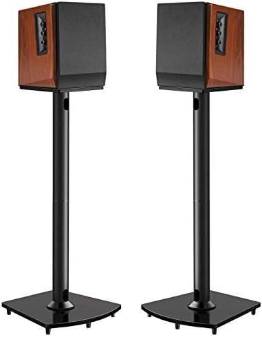 Surround Sound Speaker Stands 26 Inch Holds Satellite Bookshelf Speakers to 22lbs i e Polk Yamaha product image