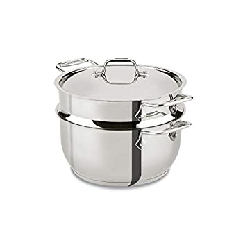 All-Clad E414S564 Stainless Steel Steamer Cookware 5-Quart Silver -