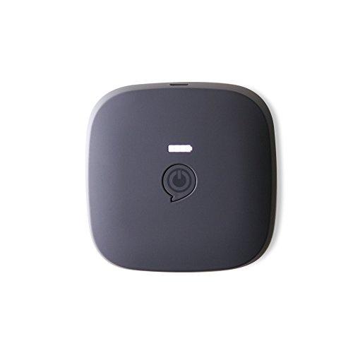 ZENS Qi-zertifizierte portable Powerbank Schwarz 10400 mAh Kapazität - Kabellos wiederaufladbar - Funktioniert mit allen Geräten (Laden via Kabel)