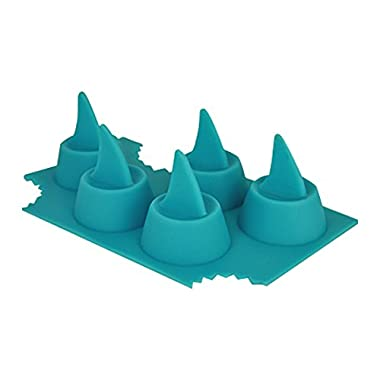Sharks in My Glass! Silicone Shark Fin Ice Cube Tray Multicolor