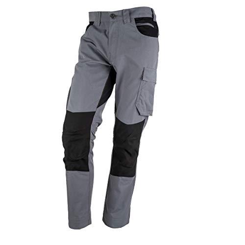 FORSBERG Braxa Arbeitshose mit elastischen Stretchzonen, robuste Bundhose mit Cordura® Stretch, Farbe:grau, Größe:58