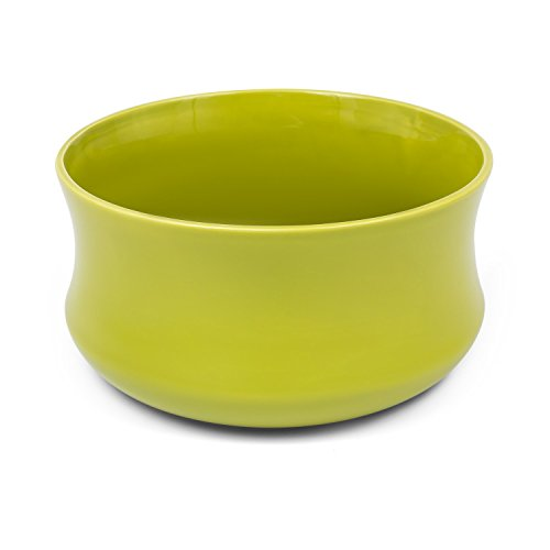 Vaso in ceramica ciotola serie BARCELONA di Polnix, altezza 12,5 cm, colore: verde
