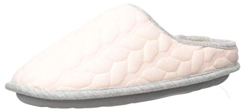 Dearfoams Women's Cable Quilt Bound Clog Slipper, Fresh Pink, Small