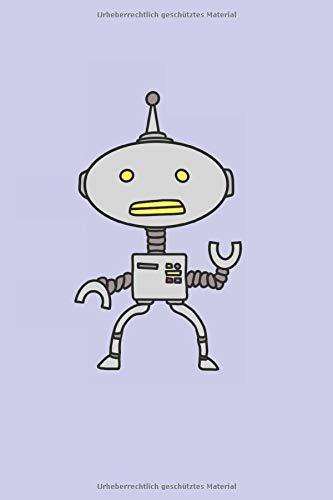 Retro Roboter: Science-Fiction Comic Androide Geschenke Notizbuch liniert (A5 Format, 15,24 x 22,86 cm, 120 Seiten)