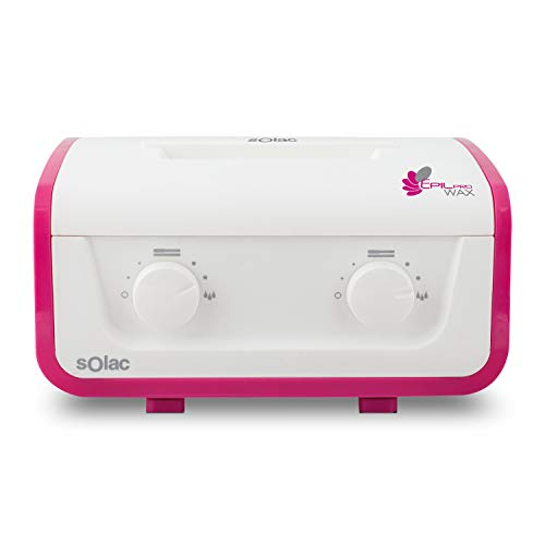 Solac DC7502 - Depilador Calentador de cera profesional con doble cubeta y filtro para reciclar la cera y volver a usarla