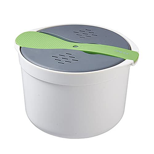 LOKOER Horno de microondas portátil Olla arrocera Olla de Vapor de Alimentos Olla de microondas Utensilios de Cocina Aislamiento Bento Fiambrera